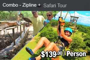 JamWest Zipline and Safari Combo